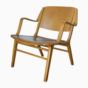 Vintage AX Schichtholz Armlehnstuhl von Hvidt & Mølgaard-Nielsen für Fritz Hansen