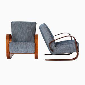 Freischwingende Sessel von Miroslav Navratil für Spojene UP Zavody, 1950er, 2er Set