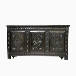 Victorian Ebonized Carved Coffer