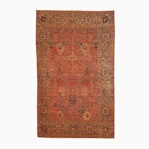 Antique Indian Loristan Handmade Rug, 1880s