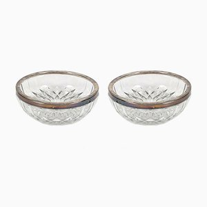 Belgian Glass Bowls, 1950s, Set of 2