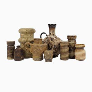 Vintage German and Dutch Ceramics, Set of 9