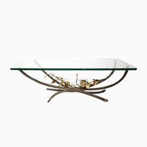 Bronze Coffee Table by Jacques Duval-Brasseur, 1970s