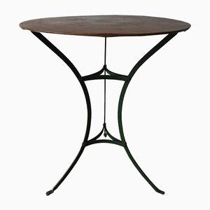 Table de Jardin Vintage en Acier avec Plateau Rond