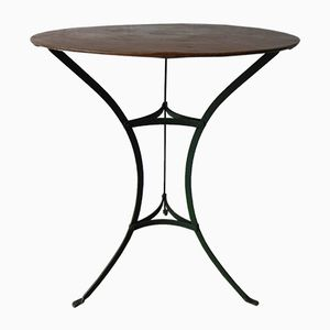 Vintage Steel Garden Table with Round Top