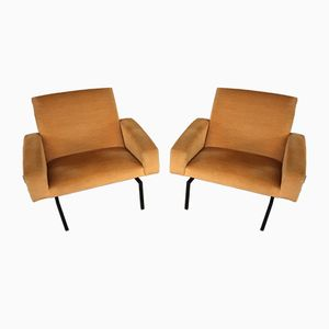 Tempo Fauteuils by Joseph André Motte for Steiner, 1960s, Set of 2