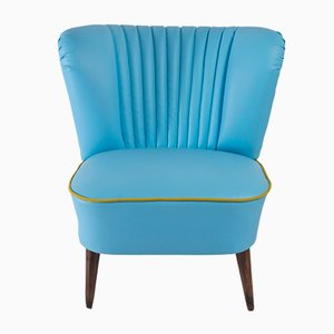 Blue Faux Leather Cocktail Chair, 1971