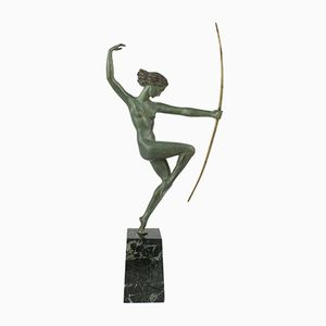 Französische Art Deco Bronze Figur von Marcel-Andre Bouraine, 1920er