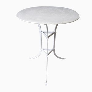 Steel Garden Table with Round Top, 1930s