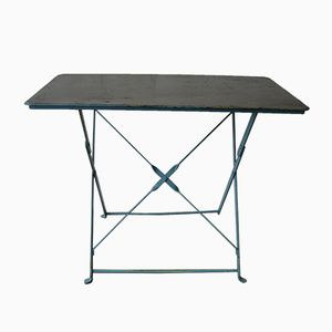 Tavolo da giardino pieghevole industriale in acciaio, anni '50