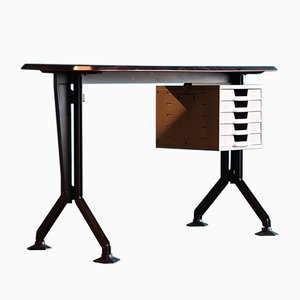 Vintage Arco Metall Schreibtisch von BBPR für Olivetti