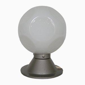 Lampada da tavolo vintage con sfera in vetro