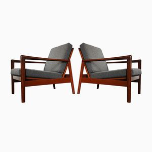 Lounge Chairs by Hans Olsen for Juul Kristensen, 1960s, Set of 2