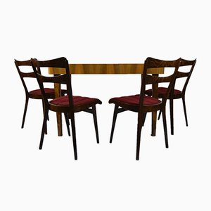 Teak Dining Table & Four Chairs, 1960s