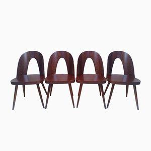 Art Deco Esszimmerstühle aus Buchenholz von Oswald Haerdtl für Thonet, 1960er, 4er Set