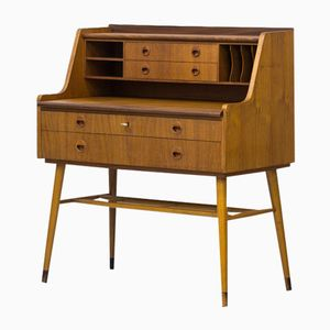 Swedish Teak & Beech Secretaire, 1960s