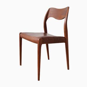 Mid-Century Model 71 Teak Dining Chair by Niels Otto Møller for J.L. Møllers