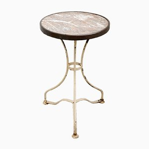 Antique Bistro Table With Marble Top, 1890s