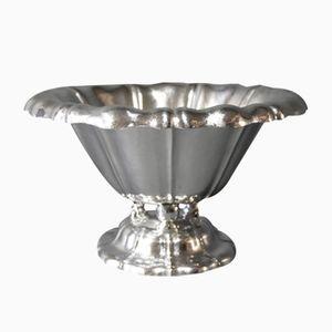 Große Vintage Schale aus Silber von E. Timmermann
