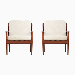 Armchairs by Grete Jalk, 1960s, Set of 2