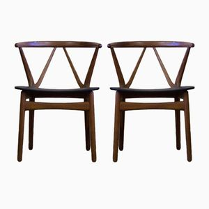 Mid-Century Danish Chairs by Henning Kjærnulf for Bruno Hansen, Set of 2
