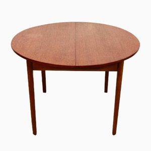 Mid-Century Circular Extendable Table in Teak, 1960s