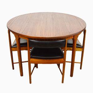 Table & Chaises Mid-Century en Teck de McIntosh