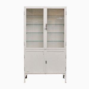 Vintage Steel and Glass Medicine Cabinet, 1940s