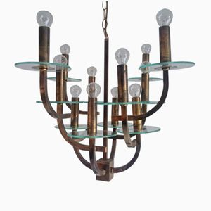 Mid-Century Chandelier with 12 Lights