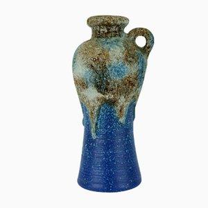 Vaso fat lava modello 647/30 blu, marrone e bianco di Dümler & Breiden, anni '60