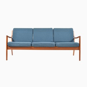 Senator 3-Seater Sofa in Teak by Ole Wanscher for France & Søn, 1960s