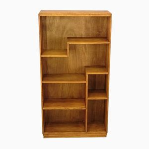 Modernist Bookcase in Solid Oak, 1950s