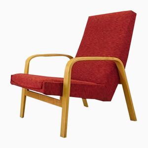 Bentwood & Fabric Armchair by A.R.P. for Steiner, 1950s