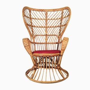 Rattan Lounge Chair by Gio Ponti for Vittorio Bonacina, 1950s