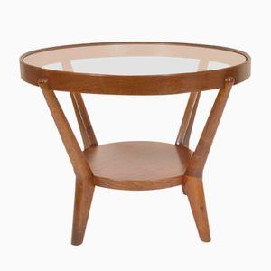 Round Coffee Table by Karel Koželka & Antonín Kropáček for České Umělecké Dílny, 1950s