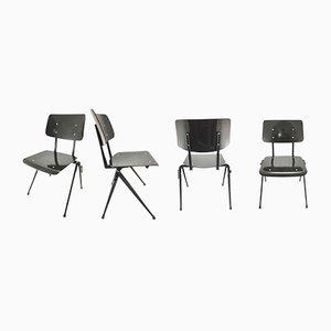 Black Industrial Stackable Chair from Galvanitas