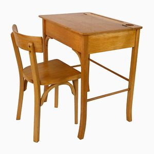 Vintage Child's Desk and Chair from Baumann