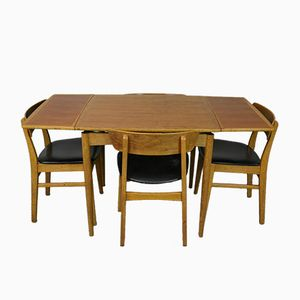 Japanese Teak and Oak Dining Suite from AFM Furniture, 1960s