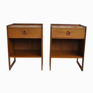 Mid-Century Danish Night Stands, 1960s, Set of 2