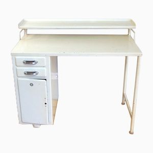 Industrial Small Medical Desk in Creamy White from Mauser, 1930s