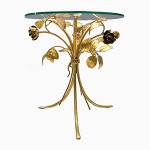Mid-Century Hollywood Regency Side Table in Gold, 1960s