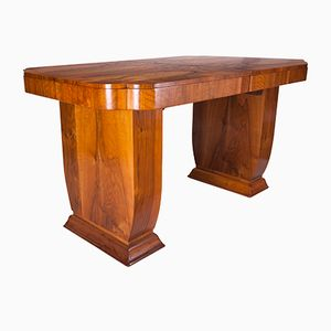 Art Deco Walnut Dining Table, 1930s