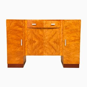 Art Deco Satin Maple Sideboard, 1930s