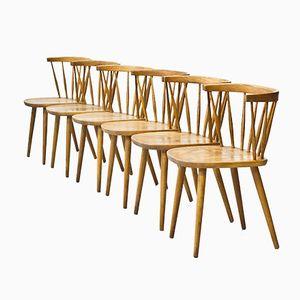 Bobino Stühle von Yngve Ekström für Stolab, 1950er, 6er Set