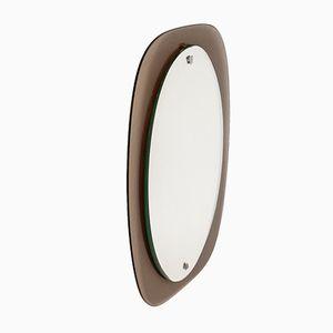 Italian Mirror with Smoky Glass Frame, 1970s