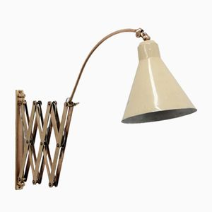 Italian Adjustable Wall Lamp with Cone Shade