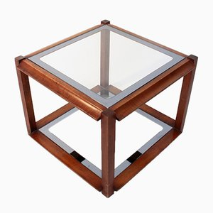 Italian Square Wooden Coffee Table