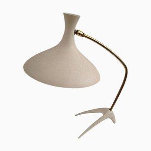Vintage White & Gold Desk Lamp