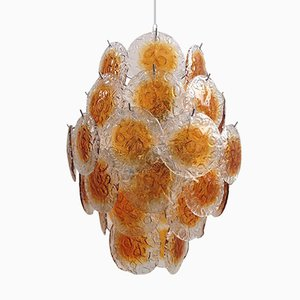 Murano Chandelier with 42 Crystal Disks from Gino Vistosi, 1970s