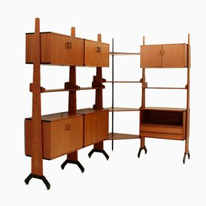 Italian Corner Wall Unit by Av Arredamenti Contemporanei, 1960s